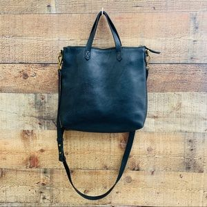 Madewell Zip Top Mini Transport Leather Crossbody